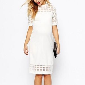ASOS Maternity Cage Insert Bodycon Dress